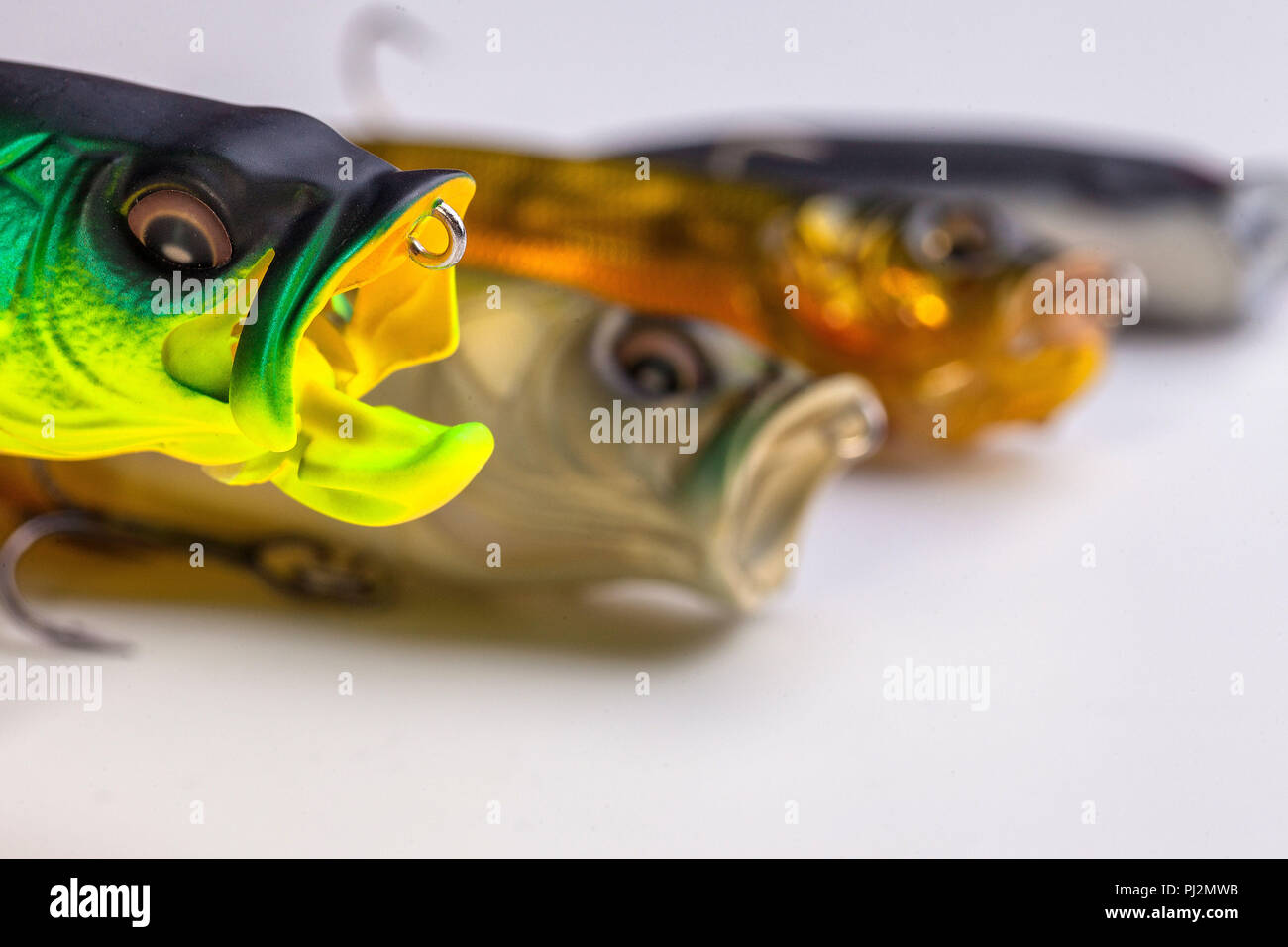 Artificial bait for fishing. For catching predatory fish. Stock Photo