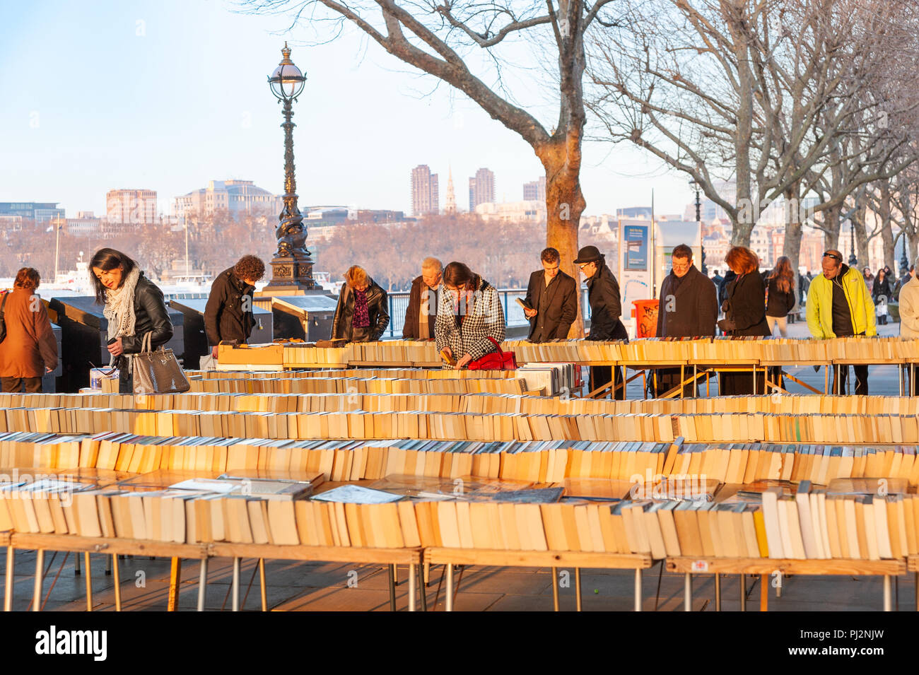 The Southbank Book Market, London, UK - Stock Image