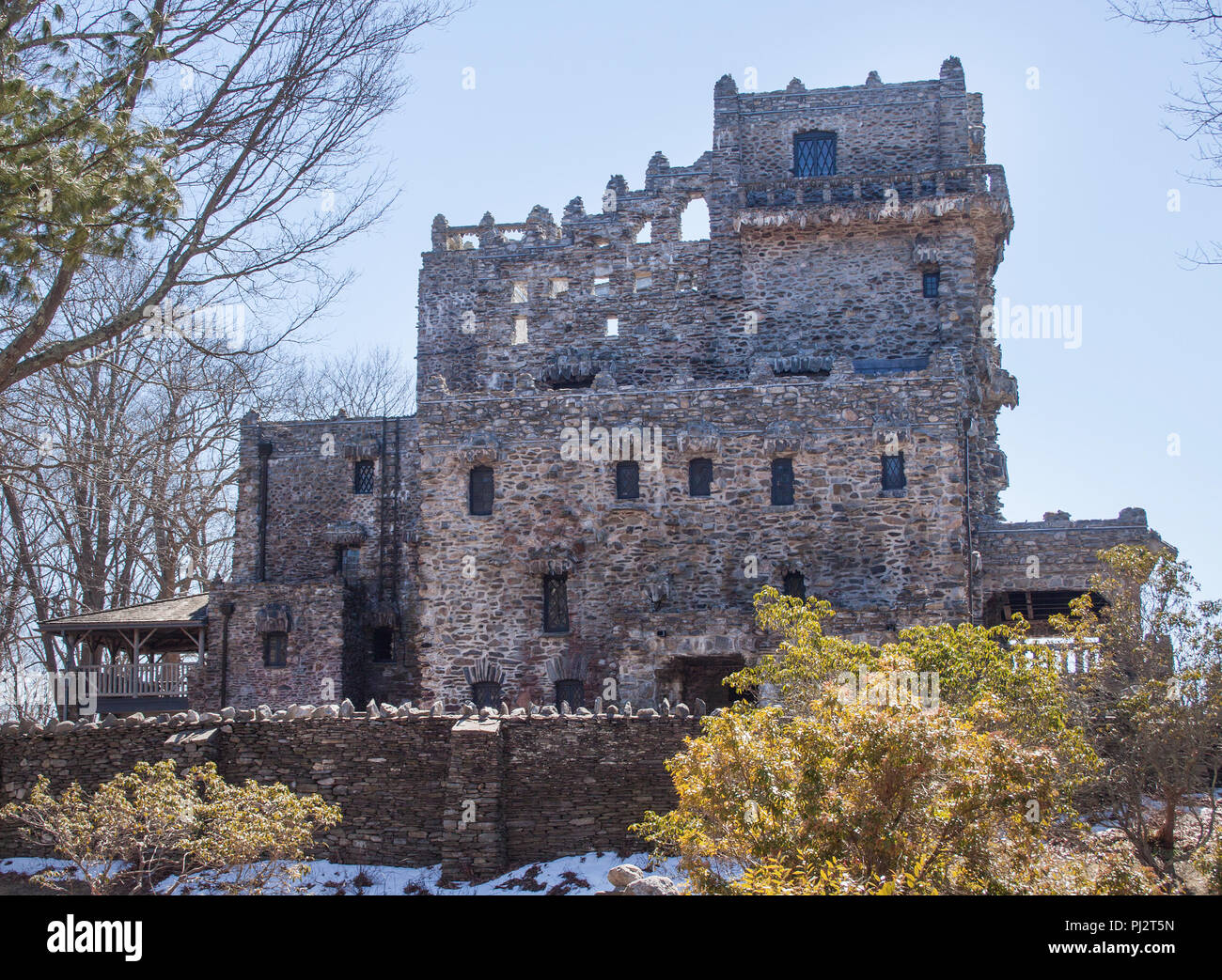 Gillette Castle in Lyme Connecticut - Stock Image