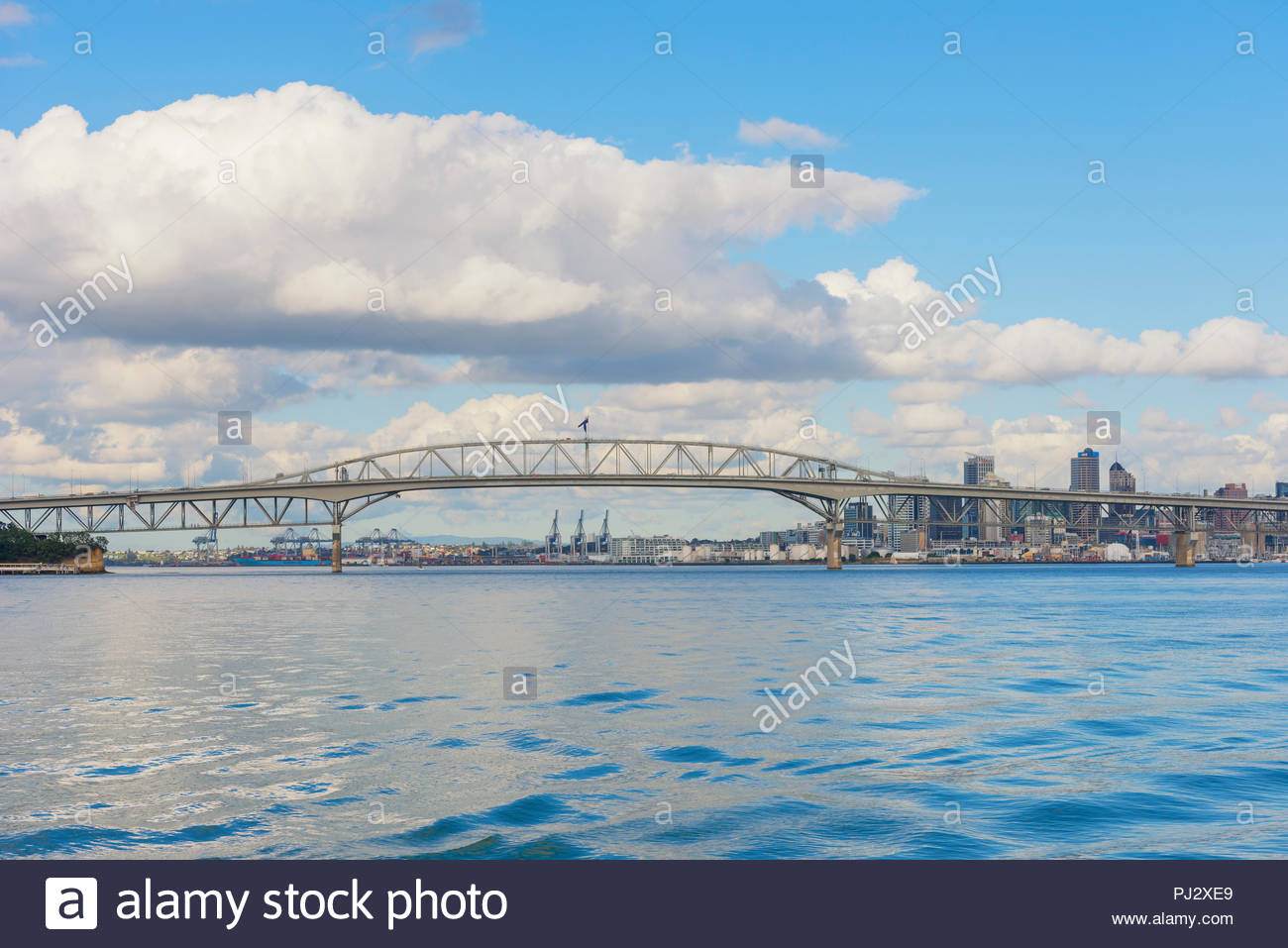 Harbour Bridge, Auckland, North Island, New Zealand - Stock Image