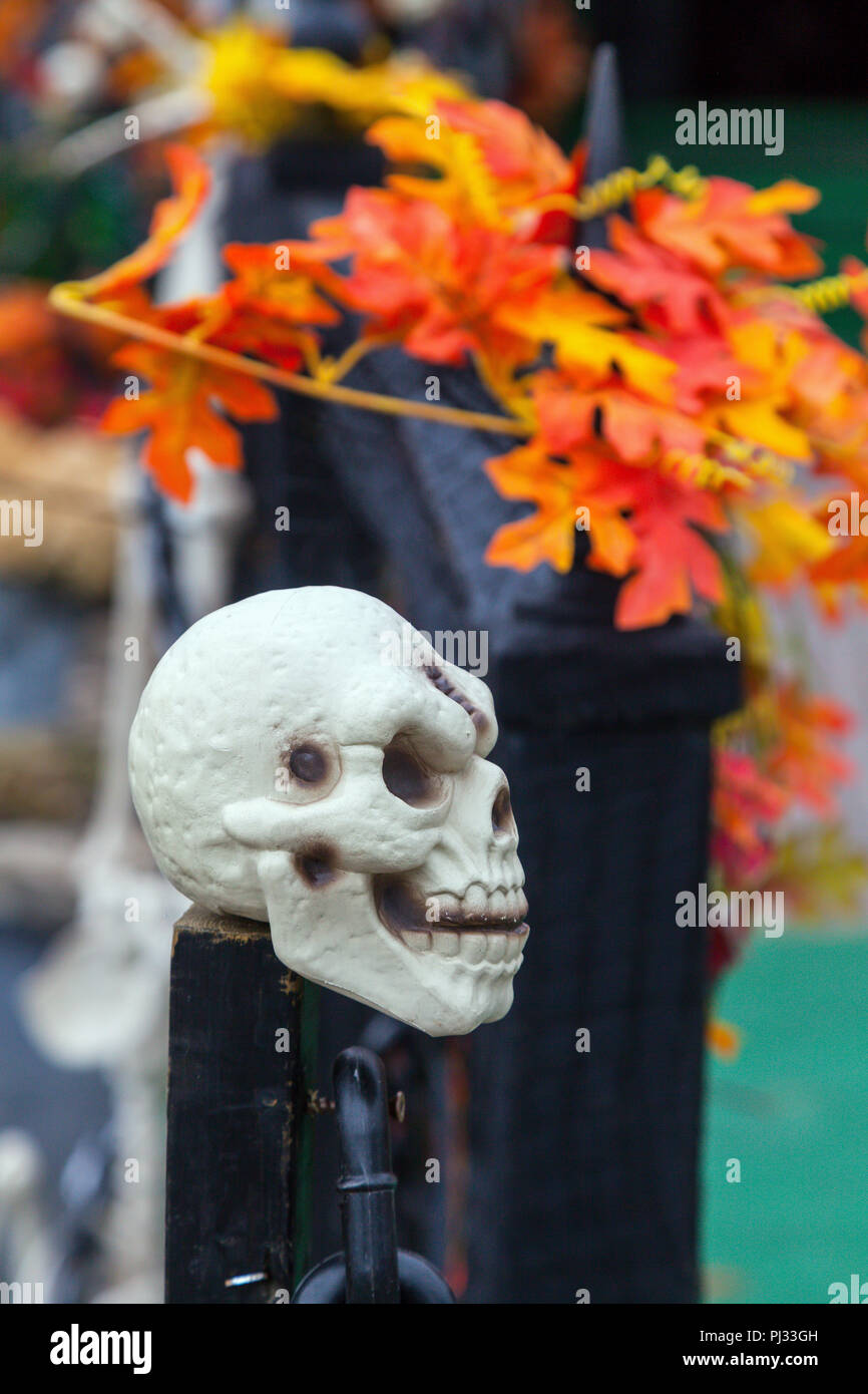 halloween decorations in laurentides quebec canada