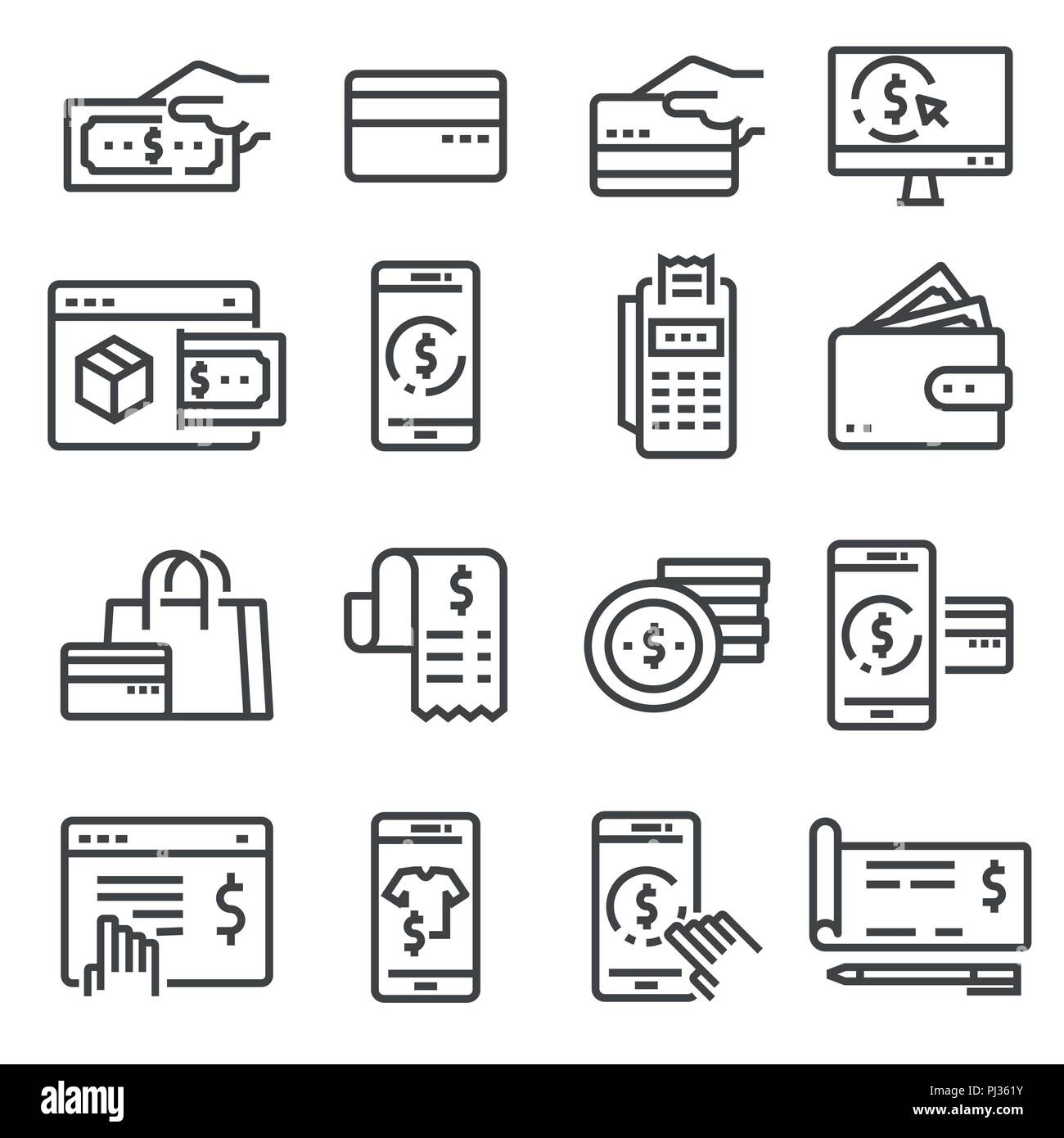 Payment Icons Vector Collection Filled Payment Icons Credit Card