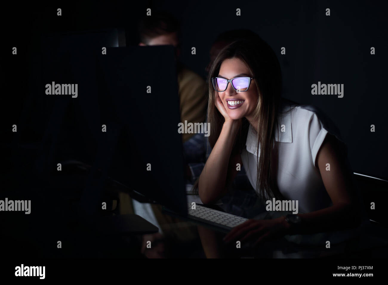 portrait of a modern business woman in the workplace - Stock Image