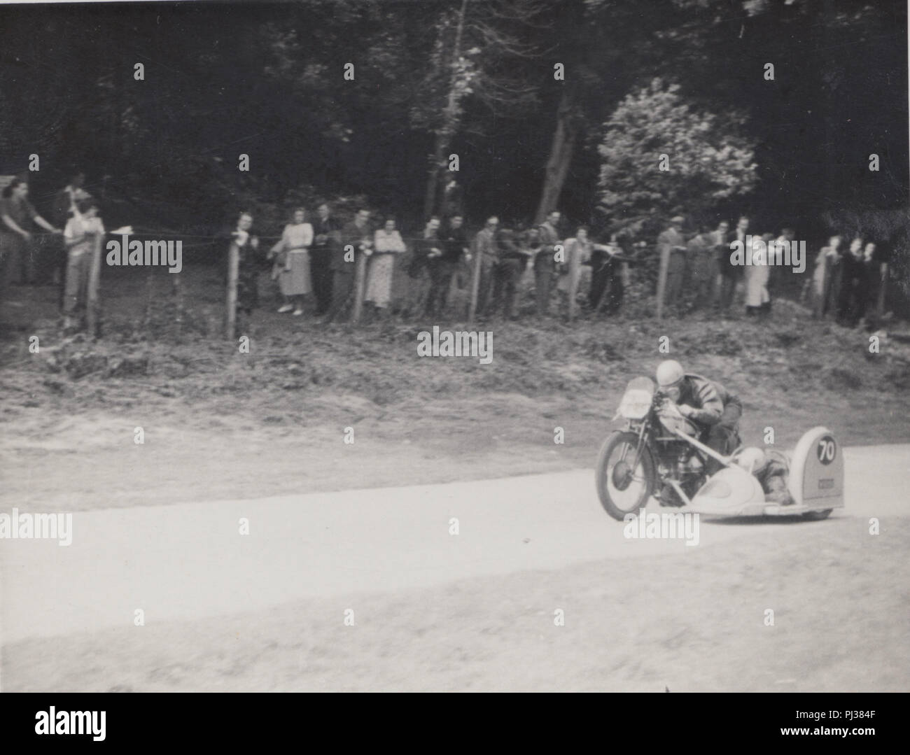 C Gray Motorcycle with Rider