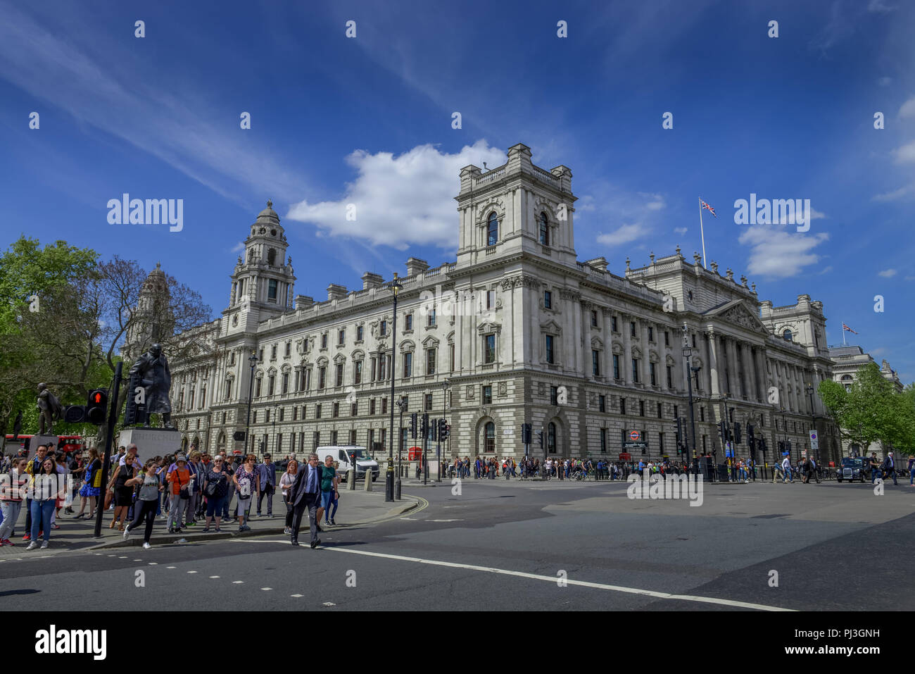 HM Treasury, Westminster, London, England, Grossbritannien - Stock Image