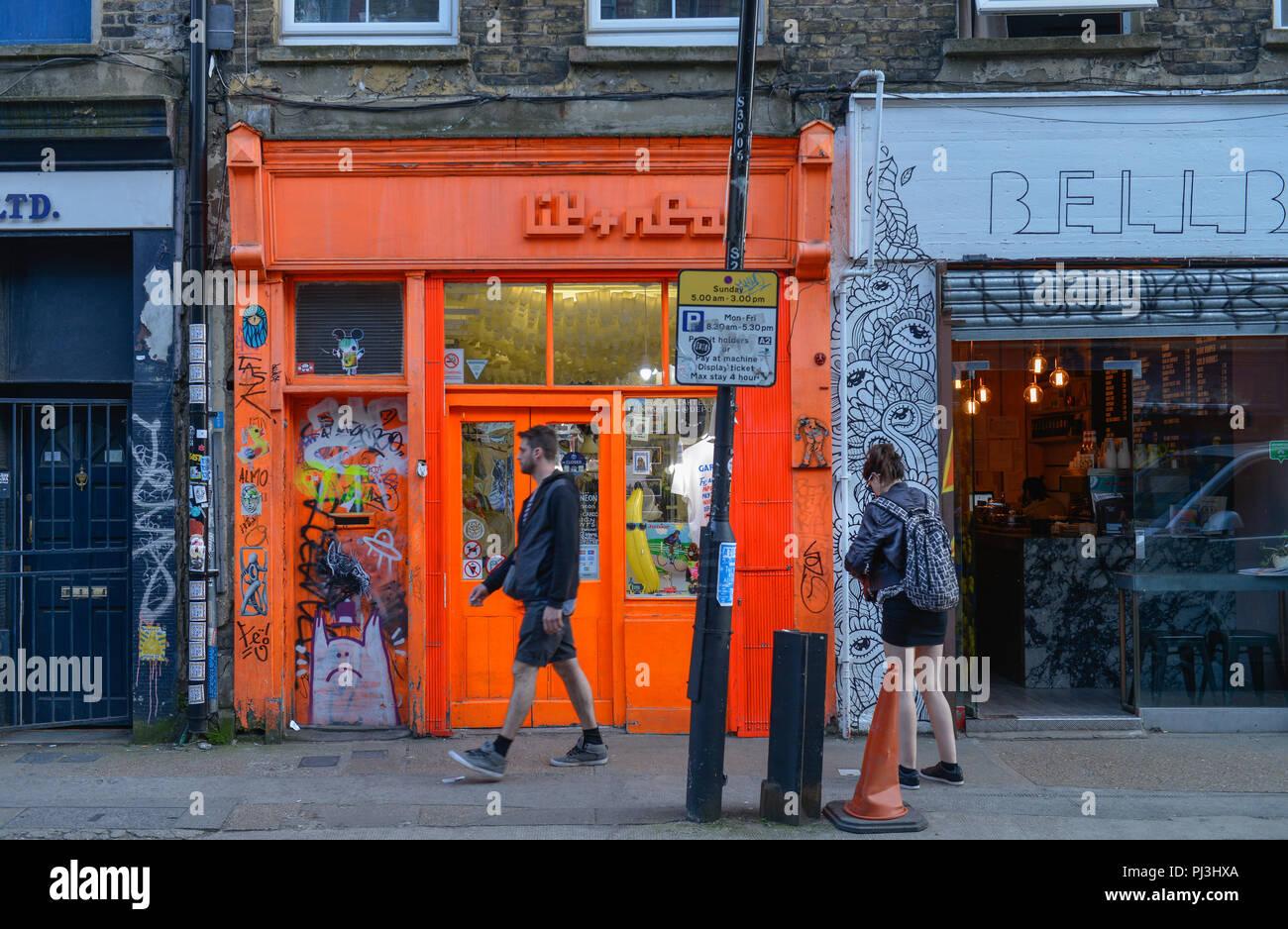 Laeden, Brick Lane, Tower Hamlets, London, England, Grossbritannien Stock Photo