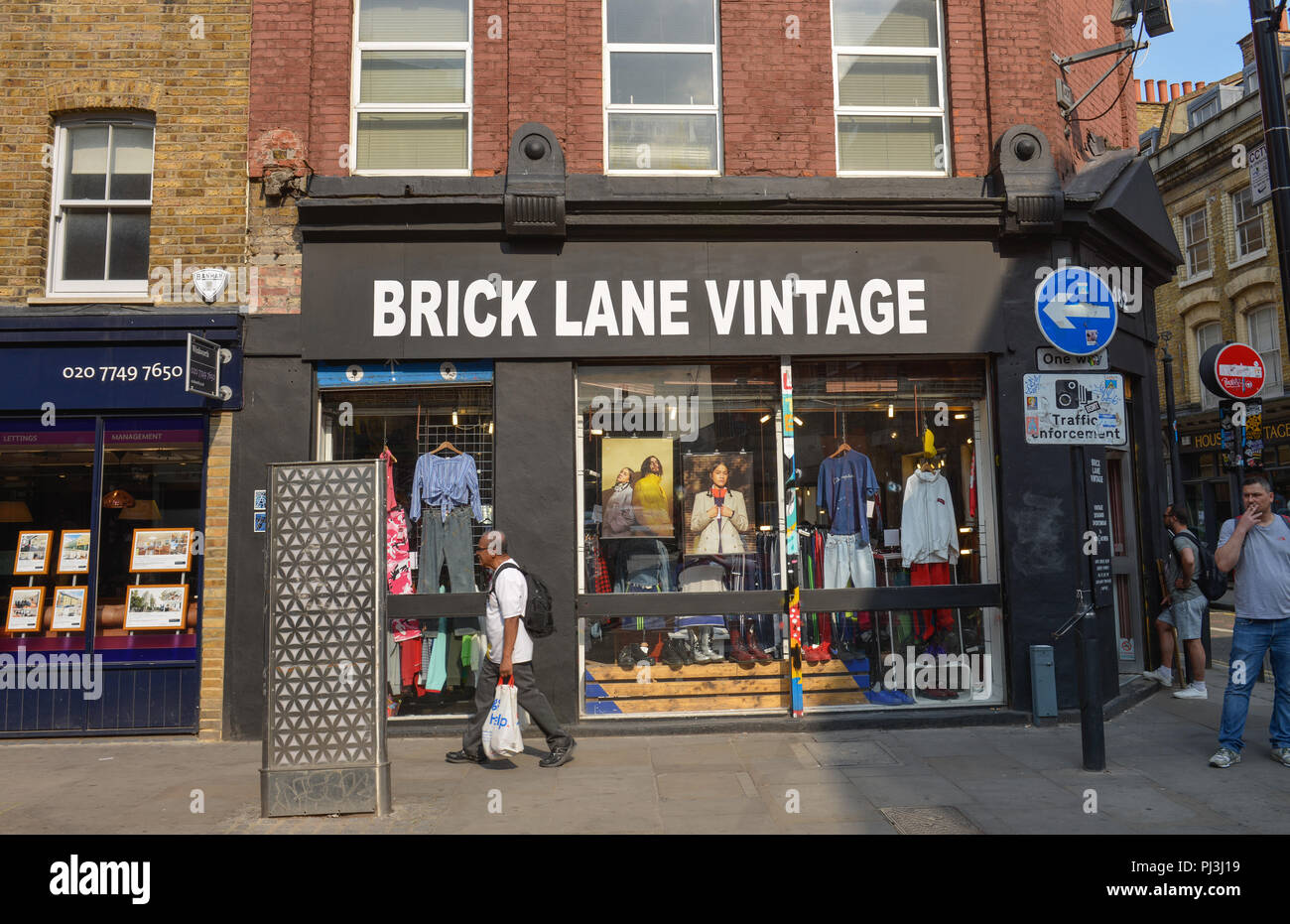 Laeden, Brick Lane, Tower Hamlets, London, England, Grossbritannien Stock Photo