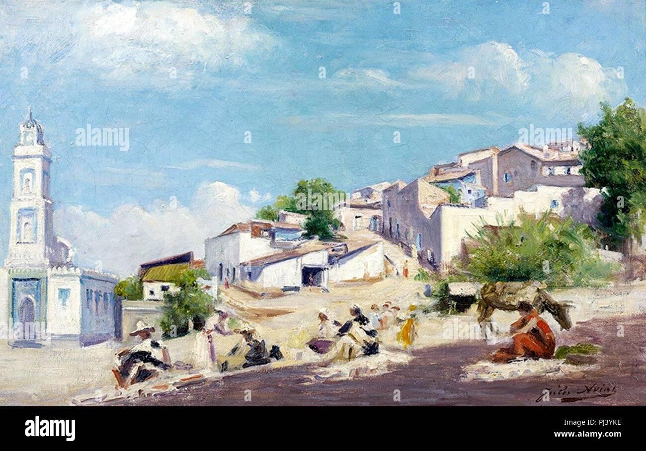 Aviat - Bougie ou Bejaïa Algérie (1909) a. Stock Photo