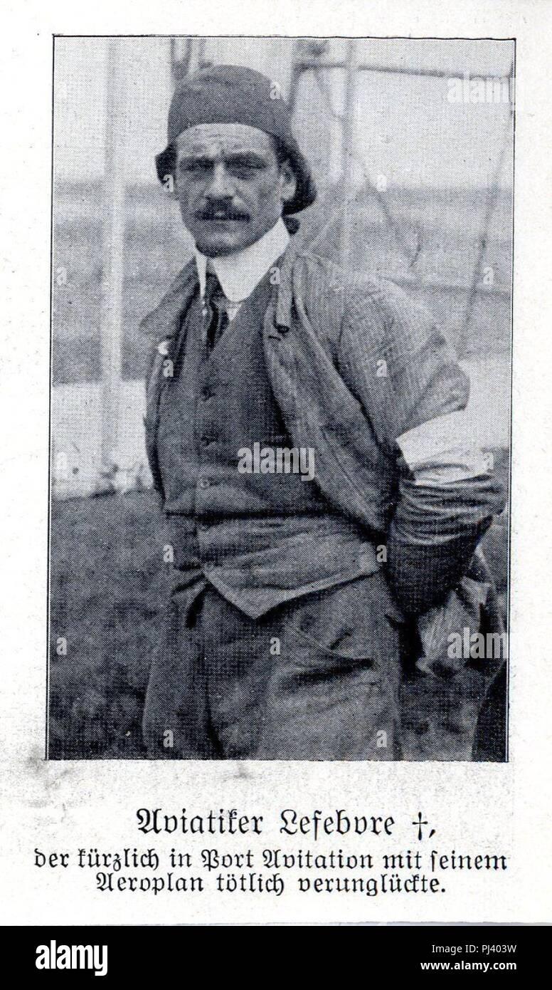 Aviatiker Eugène Lefebvre c. 1909. - Stock Image