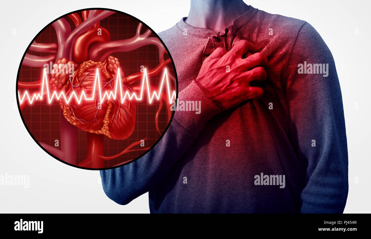 Human Heart Attack Pain As An Anatomy Medical Disease Concept With A