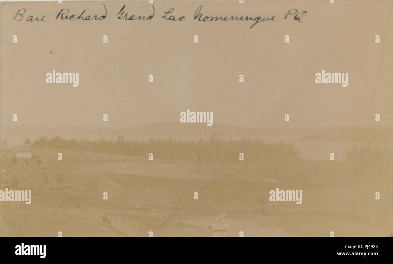 Baie Richard, Grand Lac Nominingue, PQ (HS85-10-19360). - Stock Image
