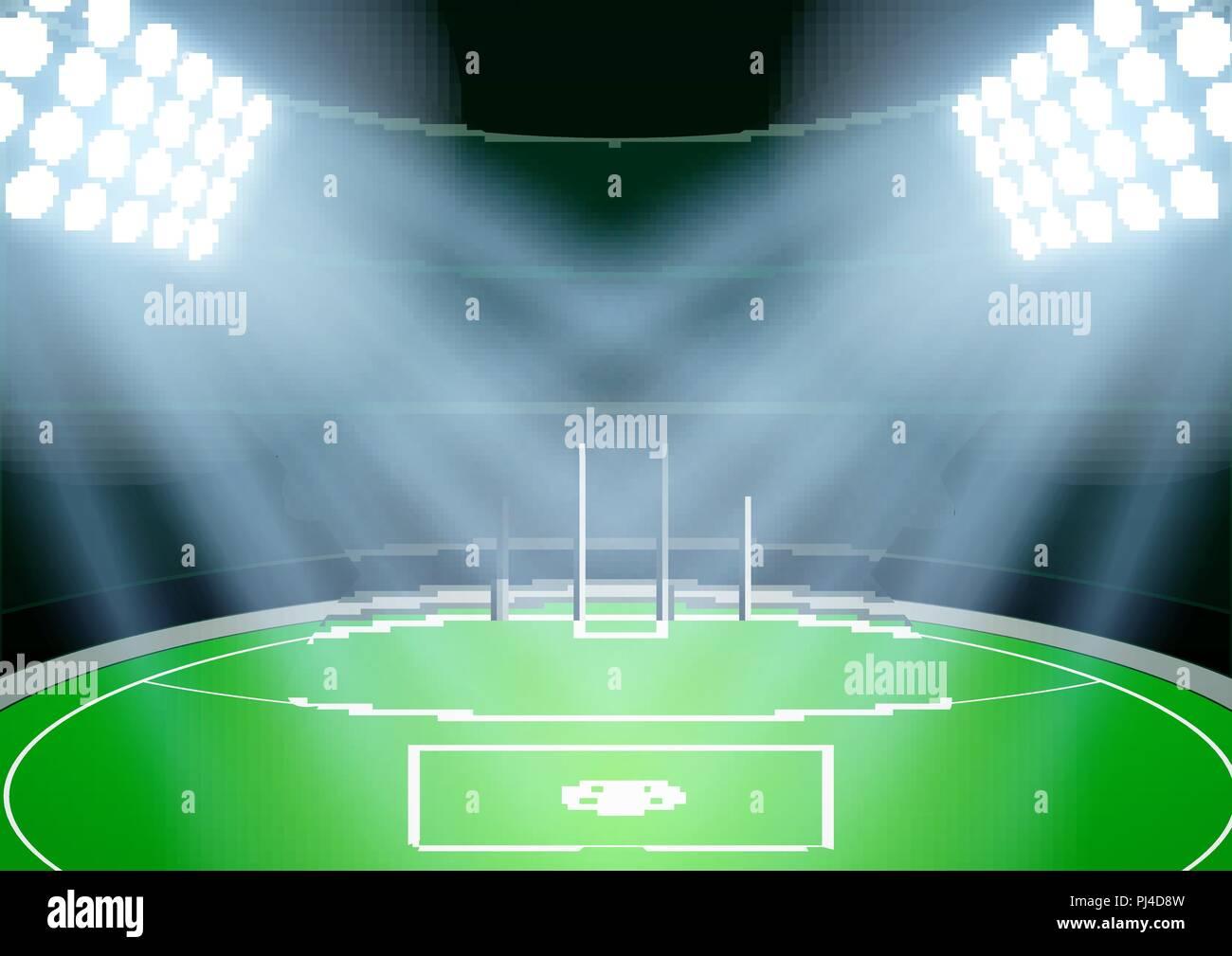 background for australian football stadium stock vector image art alamy https www alamy com background for australian football stadium image217686473 html