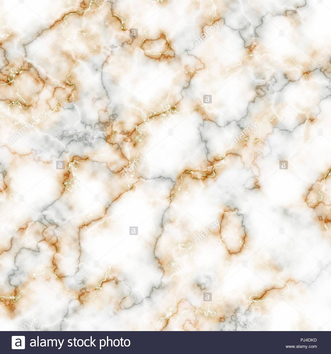 White, gray and golden marble texture. Vector background - Stock Vector