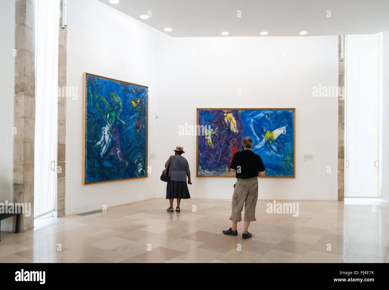 Marc Chagall, the paintings Jacob and the Angel (Left) +