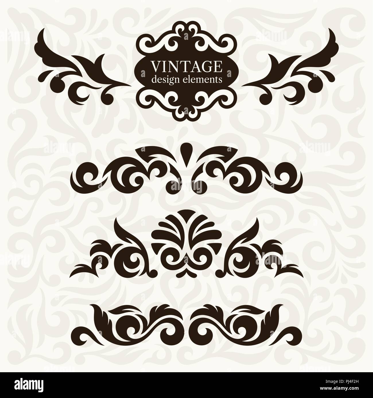 Vintage design elements and page decoration. Use for decorating greeting cards or invitations - Stock Vector