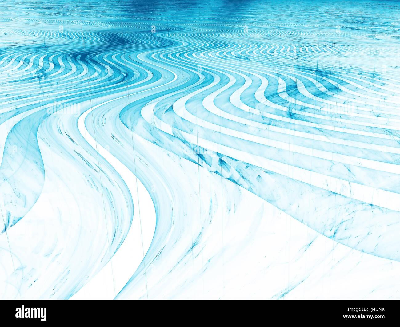 Glossy wavy surface - abstract digitally generated image Stock Photo
