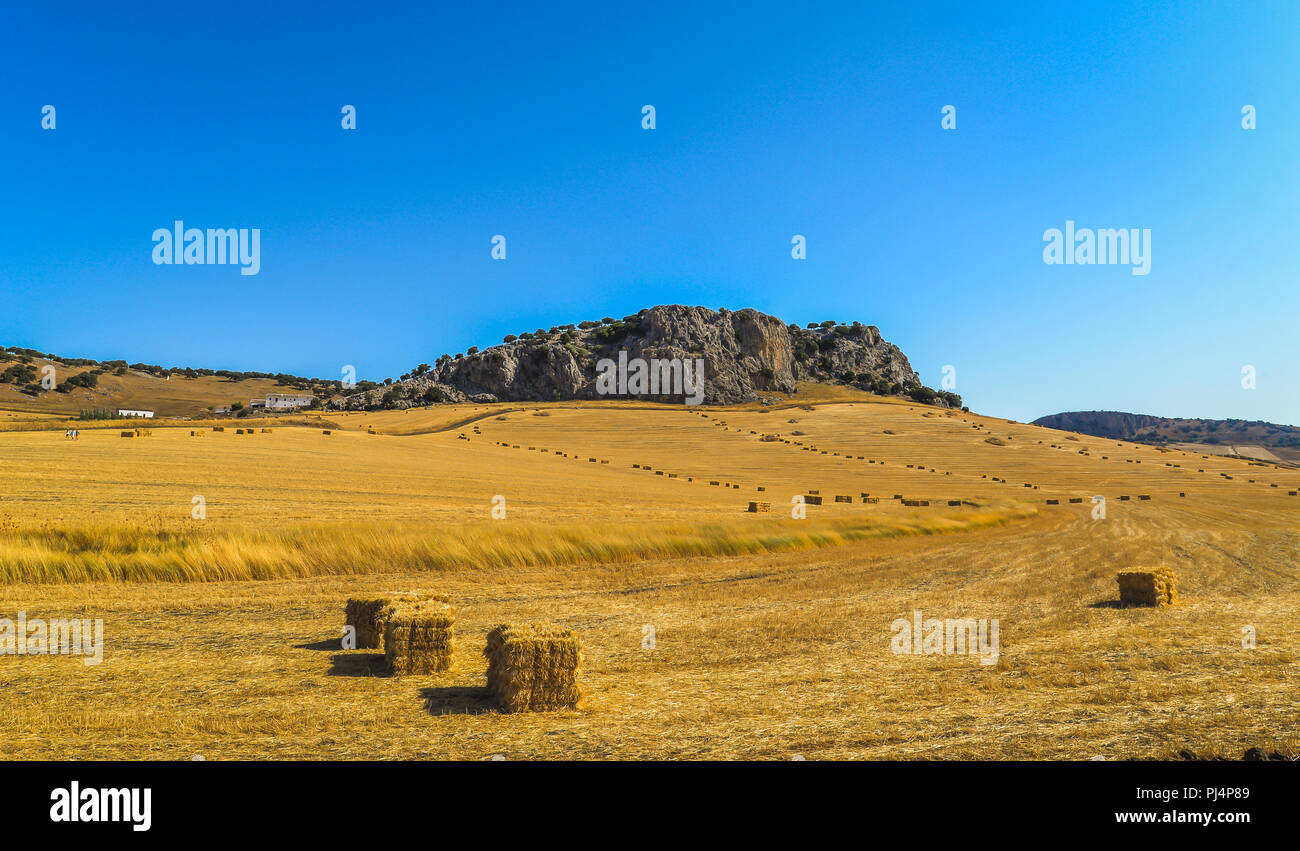 The landscape outside of Ronda in southern Spain Stock Photo