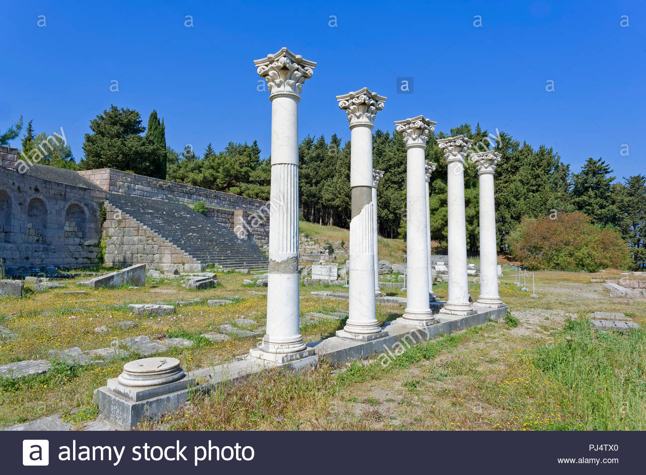 Temple of Apollo, The Asklepienon, Kos, Dodecanese Islands, Greece, Europe - Stock Image