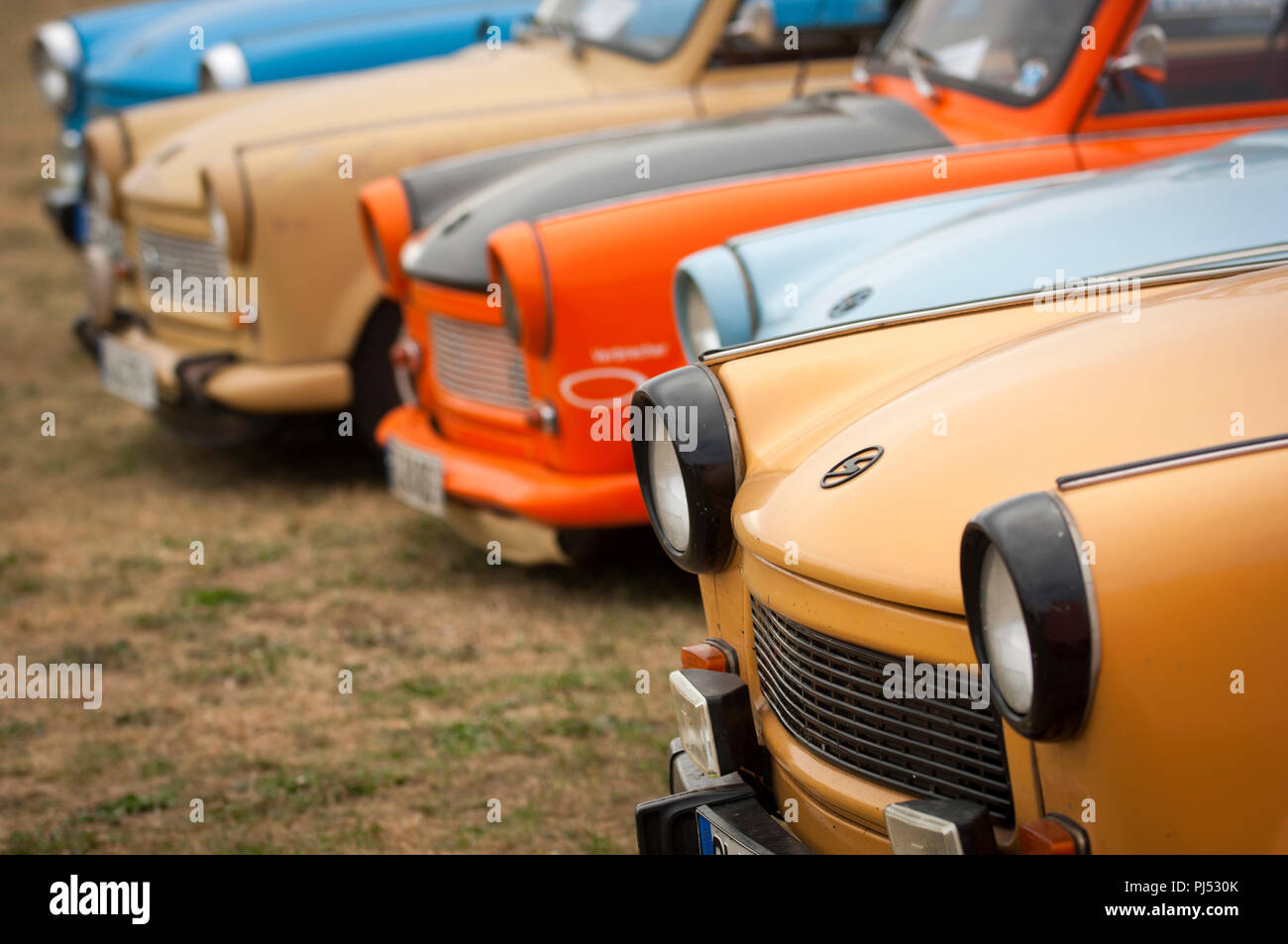 Trabants at the Zwickau annual rally in Saxony, Germany. Stock Photo