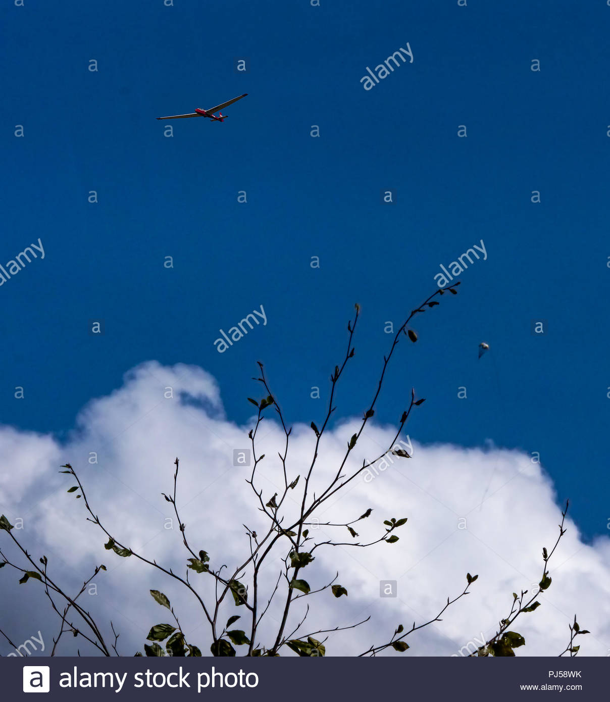Private planes fly over Bicester - Stock Image