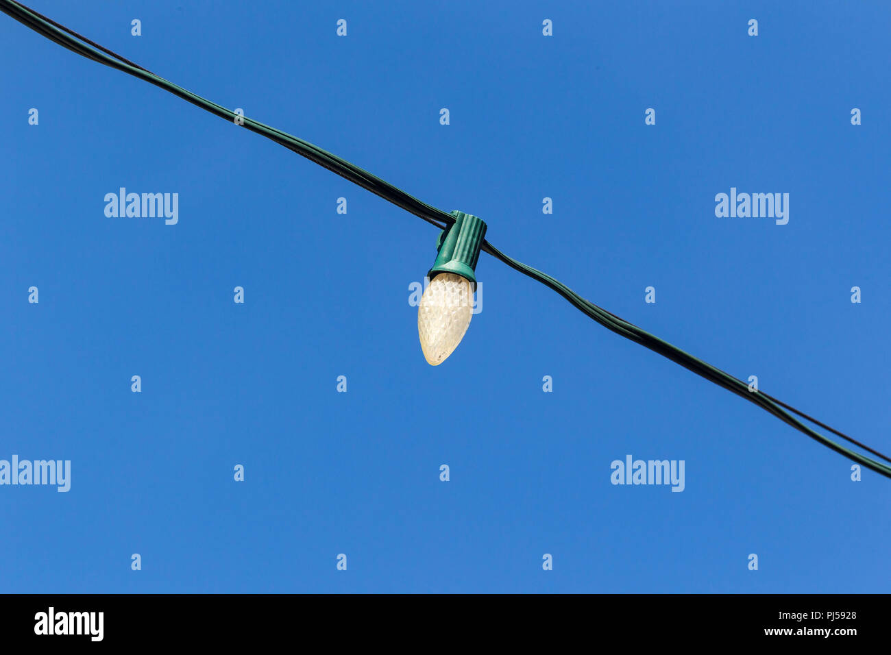 this has to be the worlds smallest street light Stock Photo