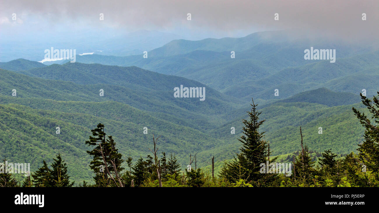 A view of the Great Smoky Mountains National Park - Stock Image