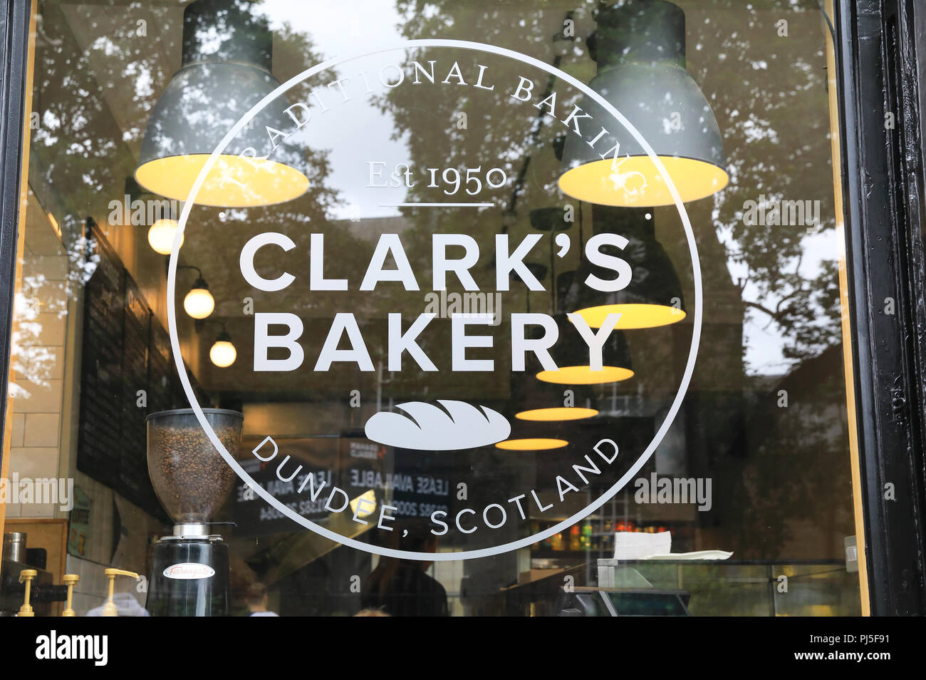 Clark's Bakery, a traditional bakery on Annfield Street, in central Dundee, Scotland, UK - Stock Image