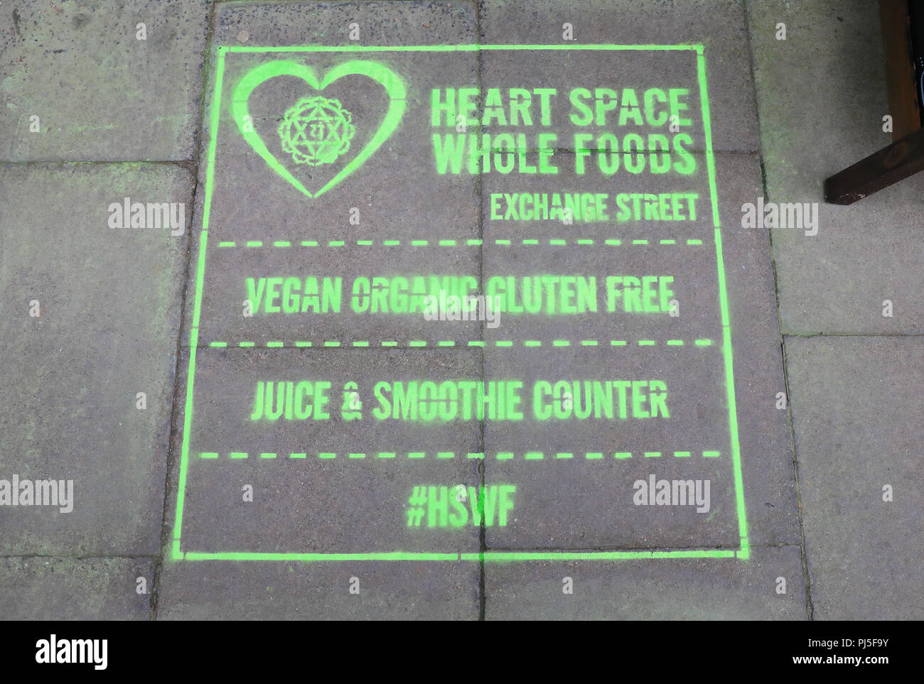 Heart Space Whole Foods on Exchange Street in central Dundee, the 'City of Discovery', in Scotland, UK Stock Photo