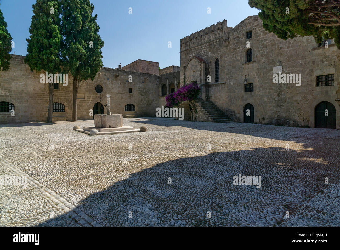 Place on Auberge of the Langue of Auvergne, Rhodes Greece Stock ...