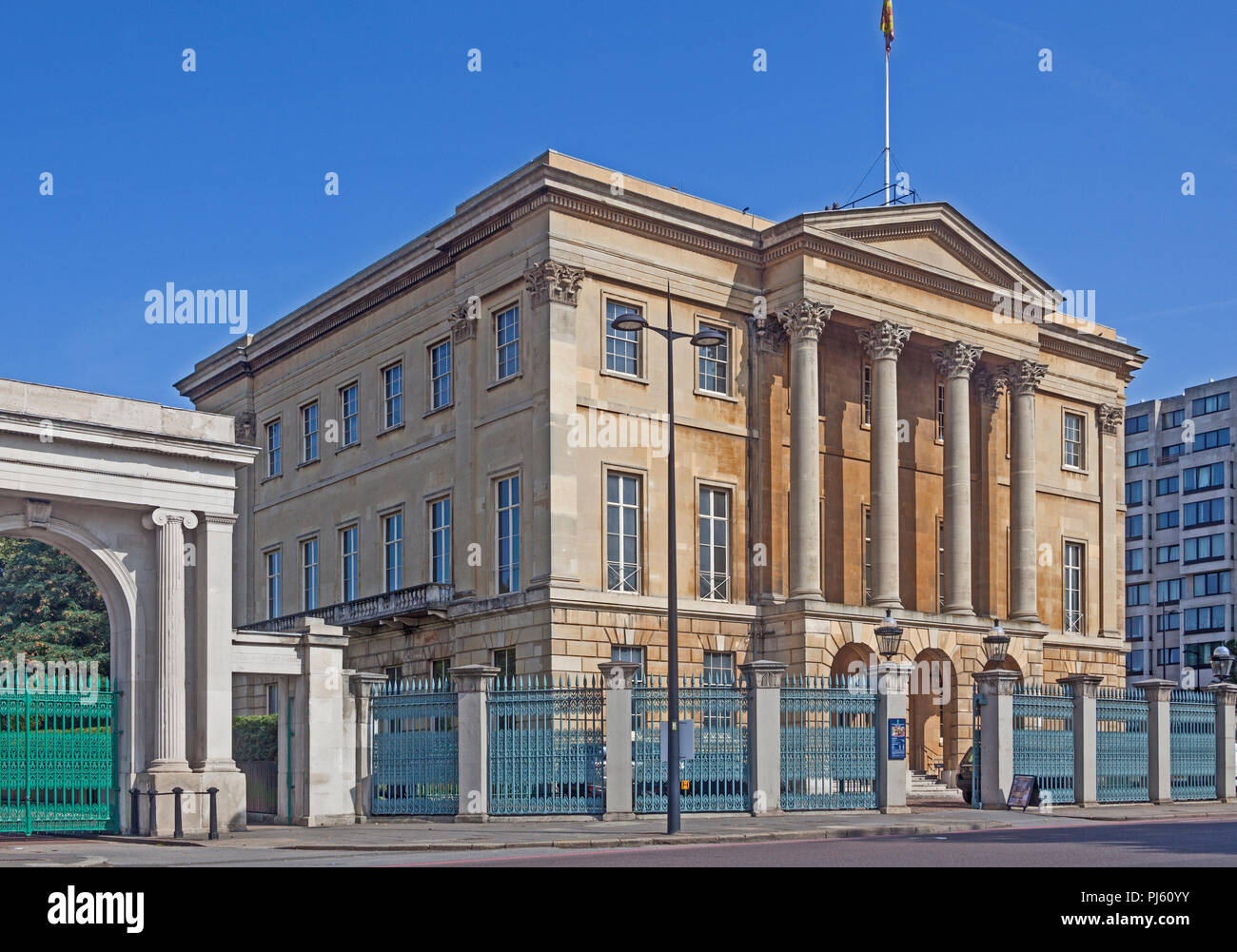 Apsley House - 'No 1 London' - the London townhouse of the Dukes of Wellington, at Hyde Park Corner - Stock Image