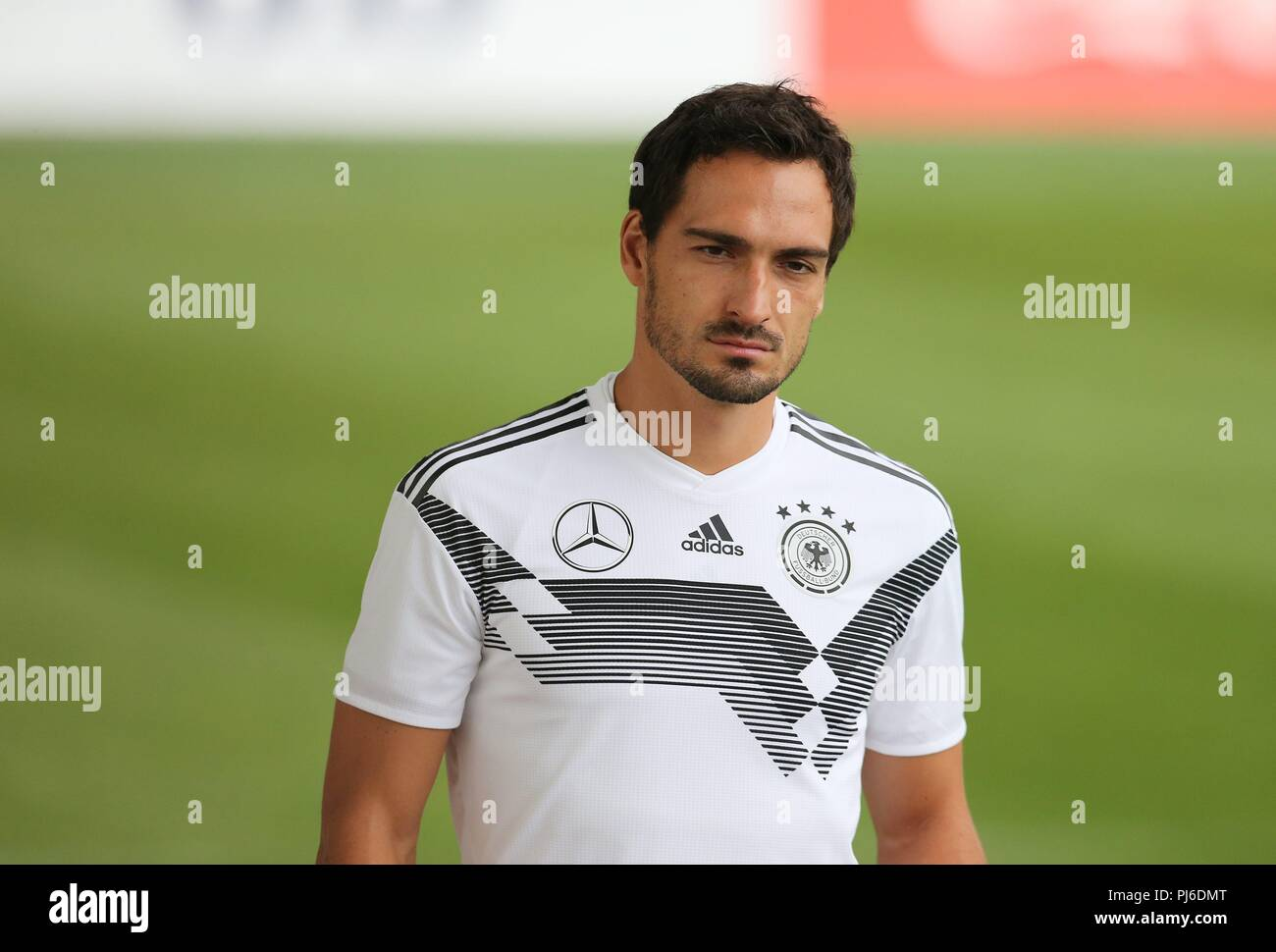 firo: 04.09.2018, Fuvuball, football, national team, training, Mats Hummels, DFB, half figure, Germany | usage worldwide - Stock Image