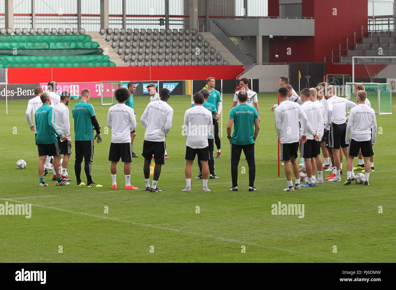 firo: 04.09.2018, Fuvuball, Football, National Team, Training, General, DFB, Germany | usage worldwide - Stock Image