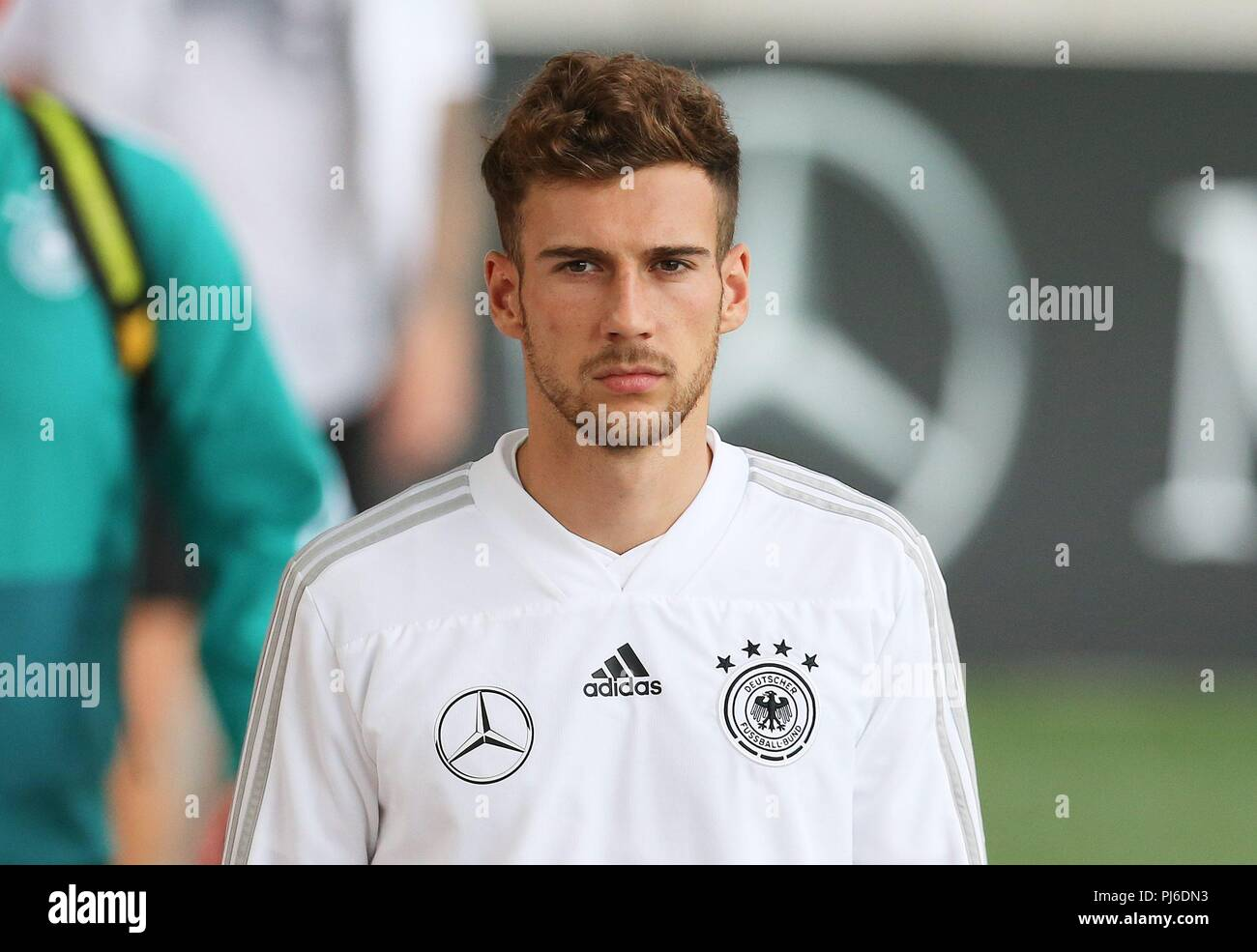 firo: 04.09.2018, Fuvuball, football, national team, training, Leon Goretzka, DFB, half figure, Germany | usage worldwide - Stock Image