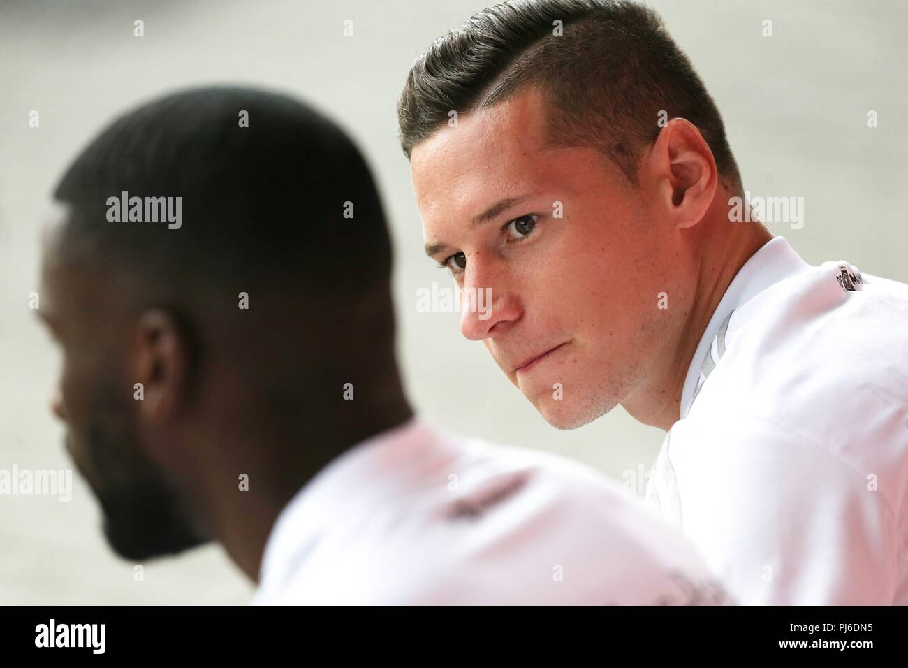 firo: 04.09.2018, Fuvuball, football, national team, training, Julian Draxler, DFB, half figure, Germany | usage worldwide - Stock Image