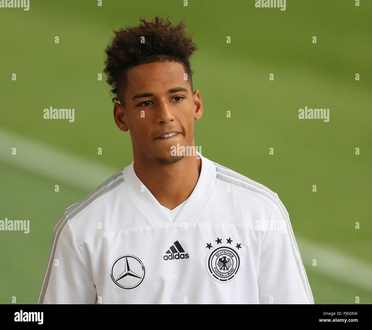 firo: 04.09.2018, Fuvuball, football, national team, training, Thilo Kehrer, DFB, half figure, Germany | usage worldwide - Stock Image