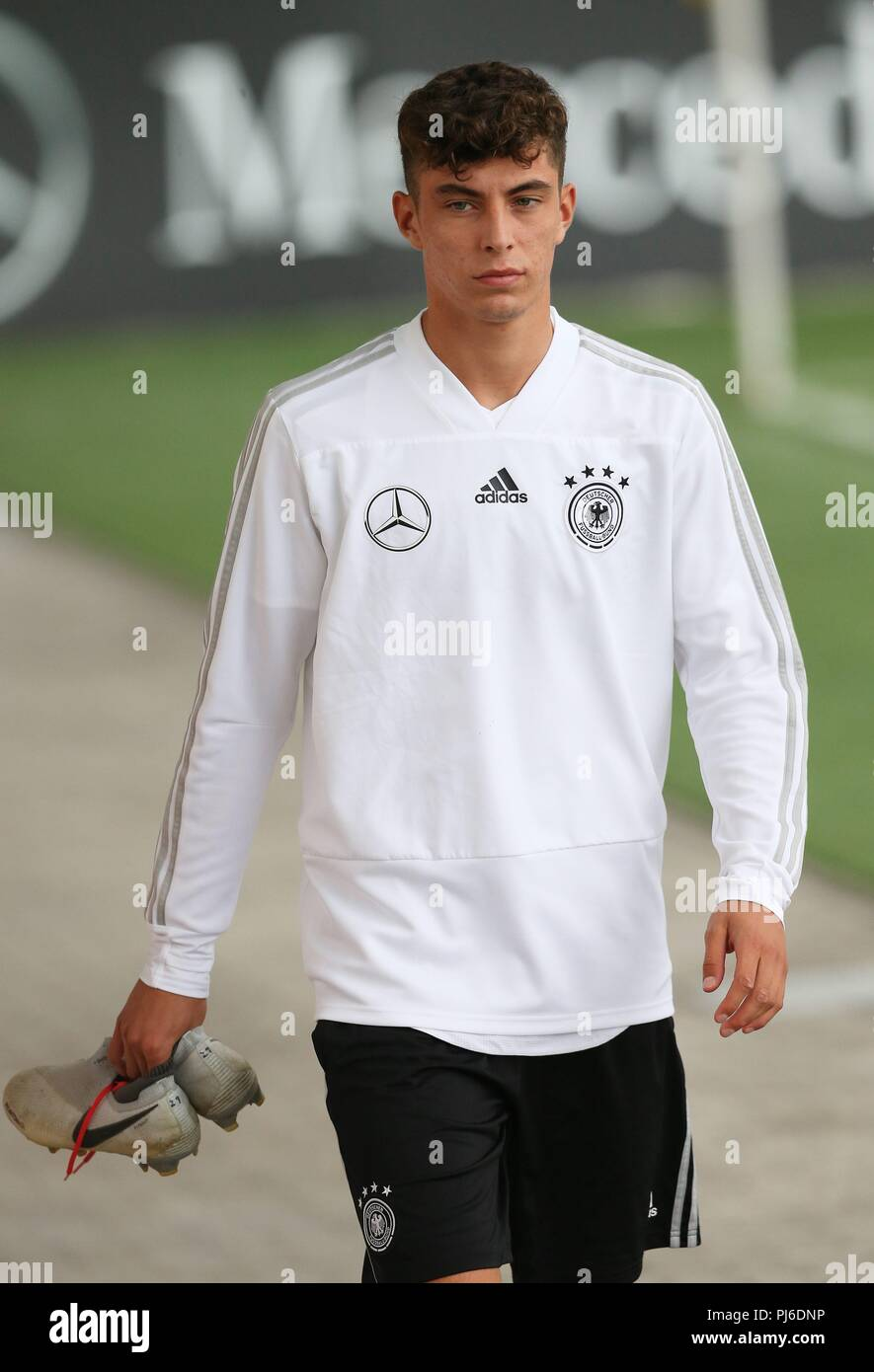 firo: 04.09.2018, Fuvuball, football, national team, training, Kai Havertz, DFB, half figure, Germany | usage worldwide - Stock Image