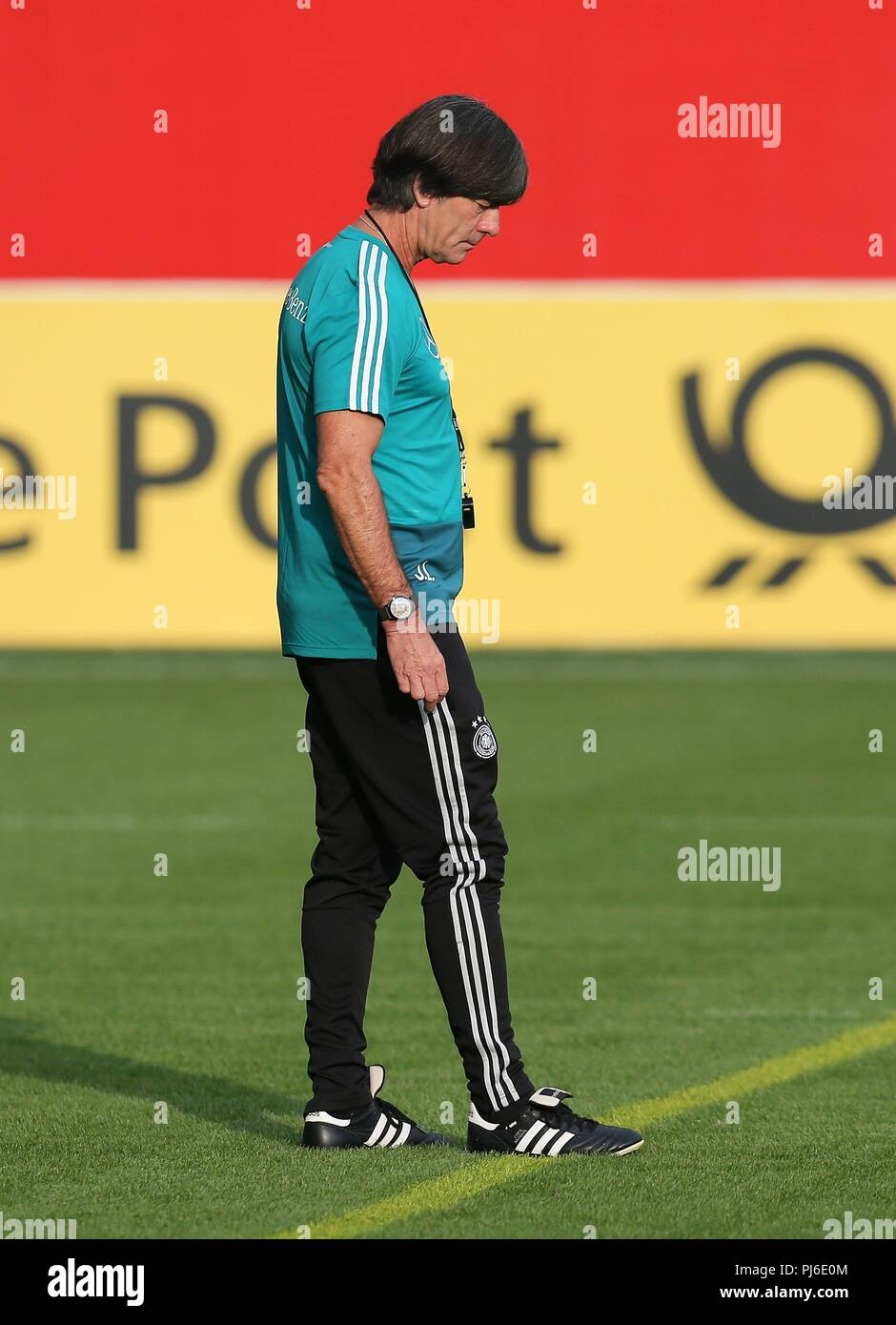 firo: 04.09.2018, football, national team, training, national coach Joachim Lv? w, Loew, DFB, full figure, single action, Germany   usage worldwide - Stock Image