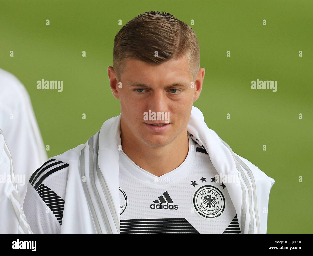 firo: 04.09.2018, Fuvuball, football, national team, training, Toni Kroes, DFB, half figure, Germany | usage worldwide - Stock Image