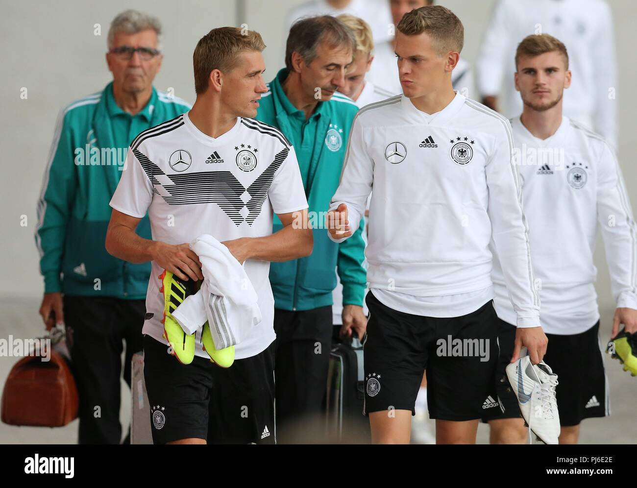 firo: 04.09.2018, Fuvuball, football, national team, training, Nils Petersen, DFB, half figure, Germany | usage worldwide - Stock Image