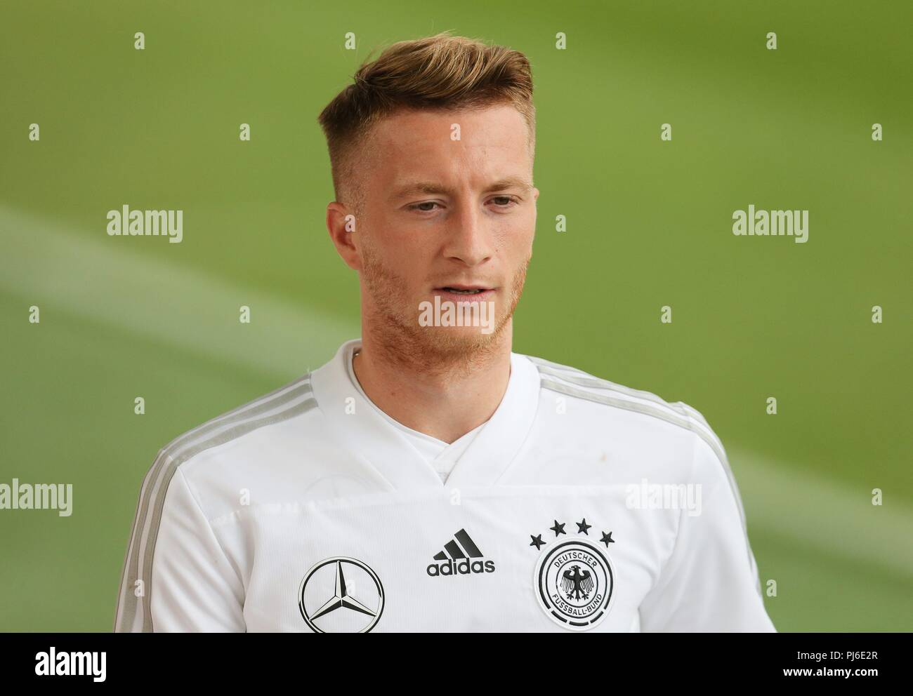 firo: 04.09.2018, Fuvuball, football, national team, training, Marco Reus, DFB, half figure, Germany | usage worldwide - Stock Image