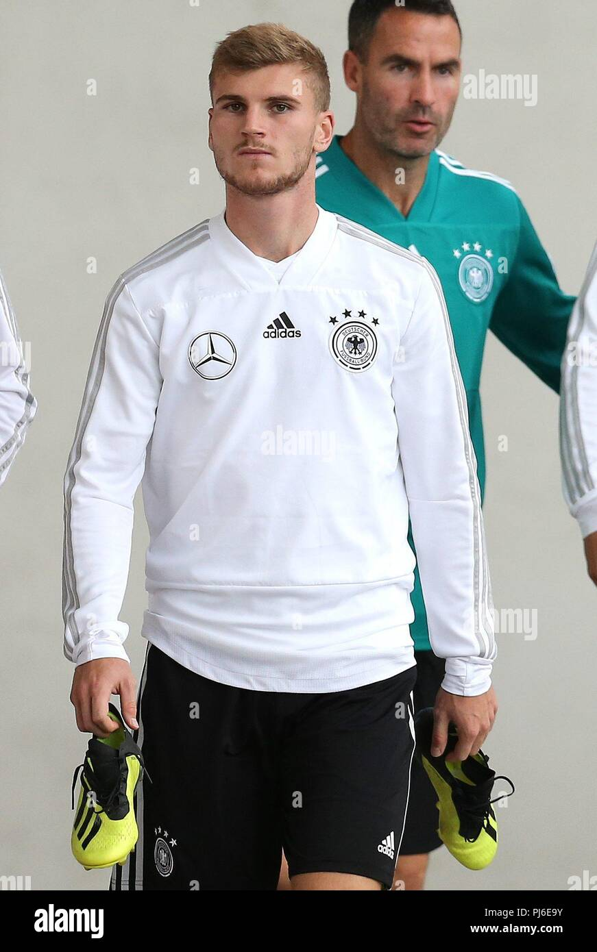 firo: 04.09.2018, Fuvuball, football, national team, training, Timo Werner, DFB, half figure, Germany | usage worldwide - Stock Image