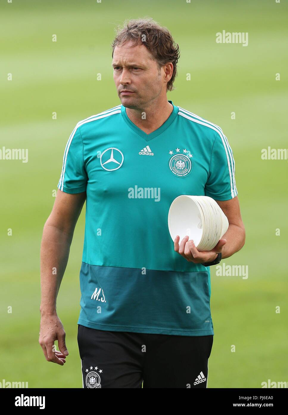 firo: 04.09.2018, Fuvuball, football, national team, training, Marcus Sorg, DFB, half figure, Germany | usage worldwide - Stock Image