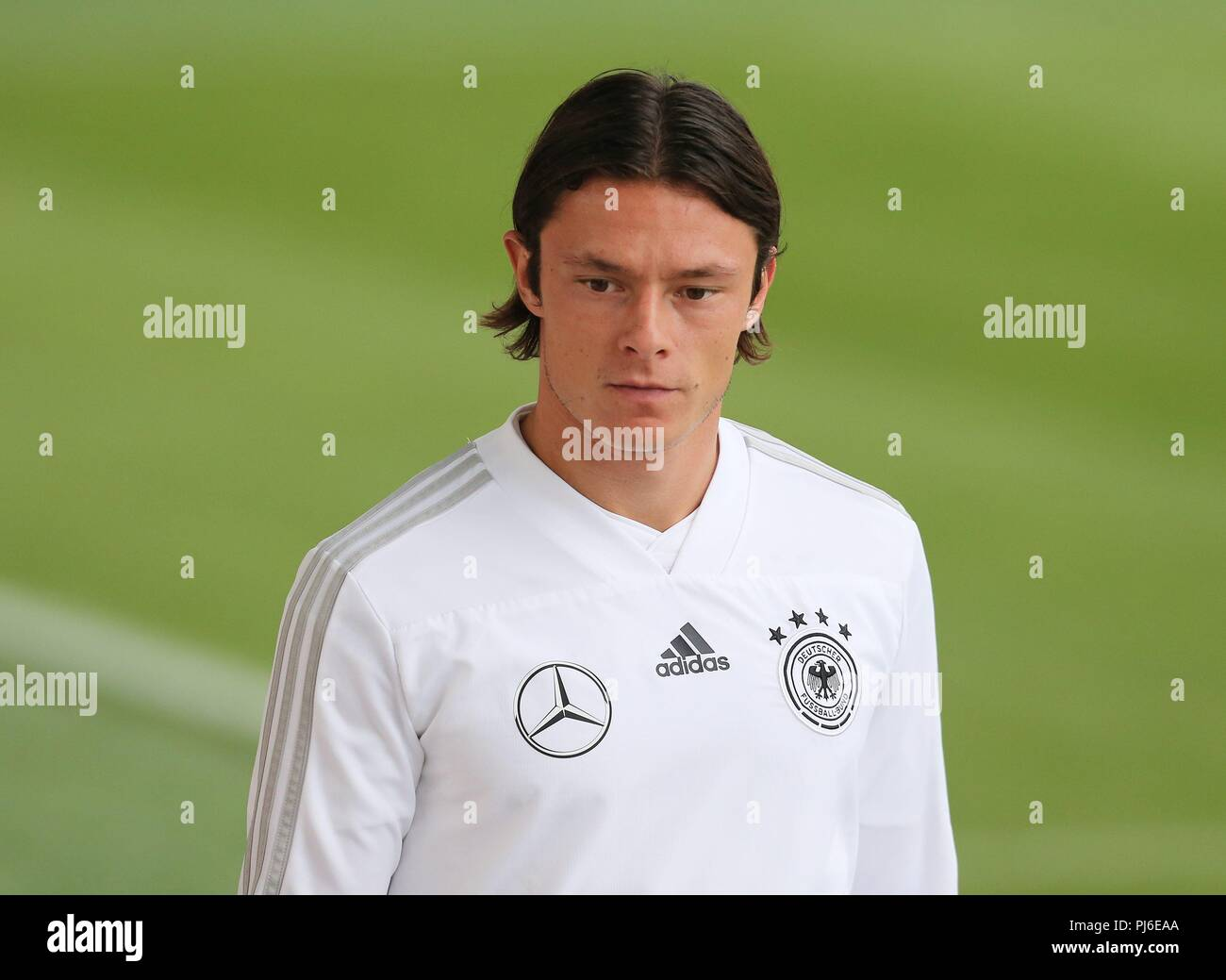 firo: 04.09.2018, Fuvuball, football, national team, training, Nico Schulz, DFB, half figure, Germany | usage worldwide - Stock Image