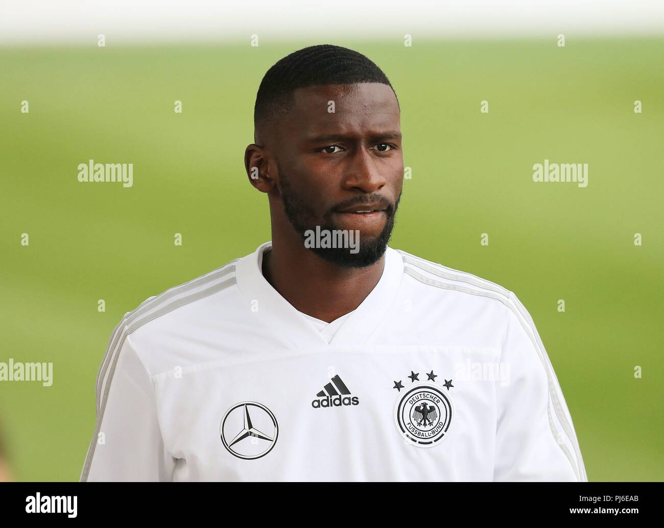 firo: 04.09.2018, Fuvuball, football, national team, training, Antonio RvØdiger, Ruediger, DFB, half figure, Germany | usage worldwide - Stock Image