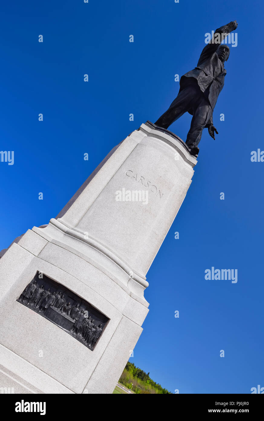 Northern Ireland, Belfast, Stormont, Statue of Lord Edward Carson. - Stock Image