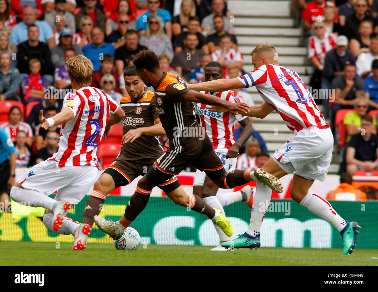 Stoke City v Brentford FC - Stock Image