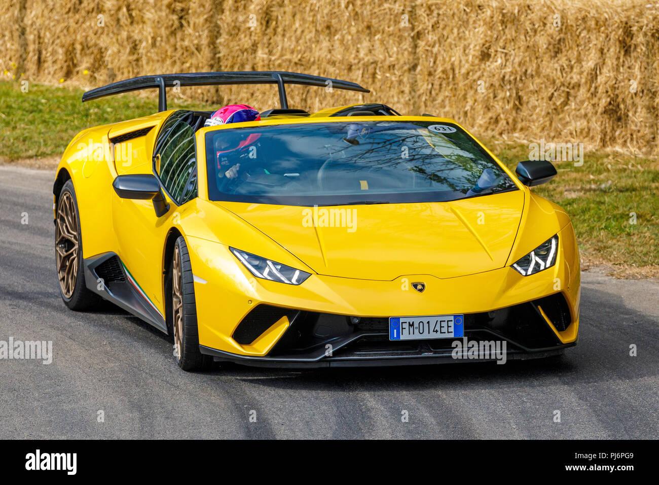 Lamborghini Huracan Yellow Stock Photos Lamborghini Huracan Yellow