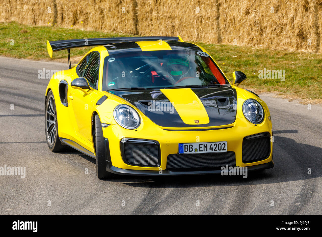 2018 Porsche 911 Gt2 Rs On It S Demonstration Hillclimb Run At The 2018 Goodwood Festival Of Speed Sussex Uk Stock Photo Alamy