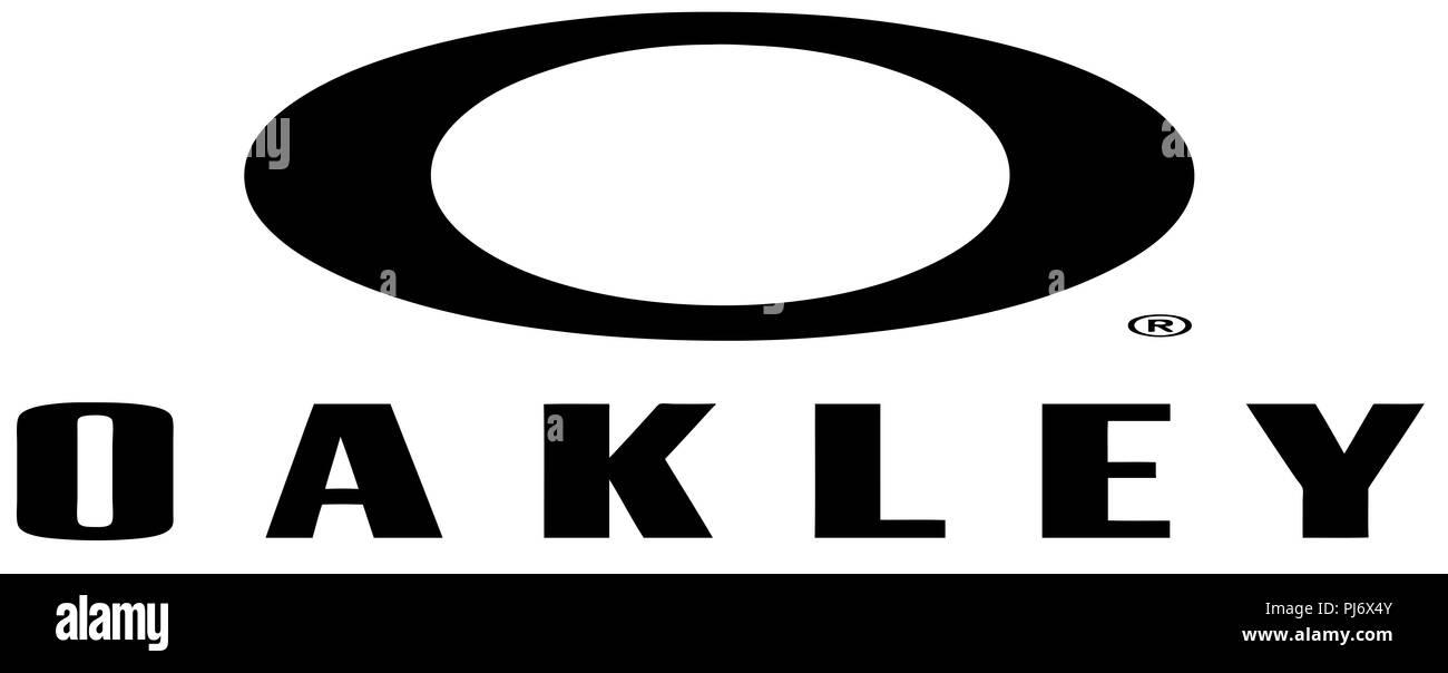 Oakley Fashion Eyewear Brand Logo Sports Illustration Stock Photo