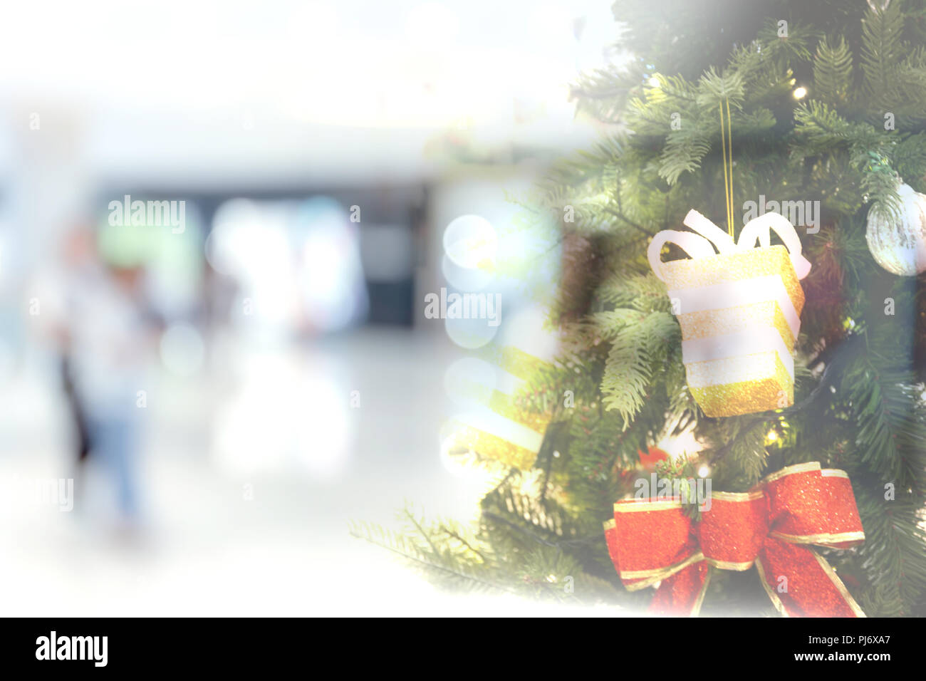 Abstract background of shopping mall with color bokeh circles for ...